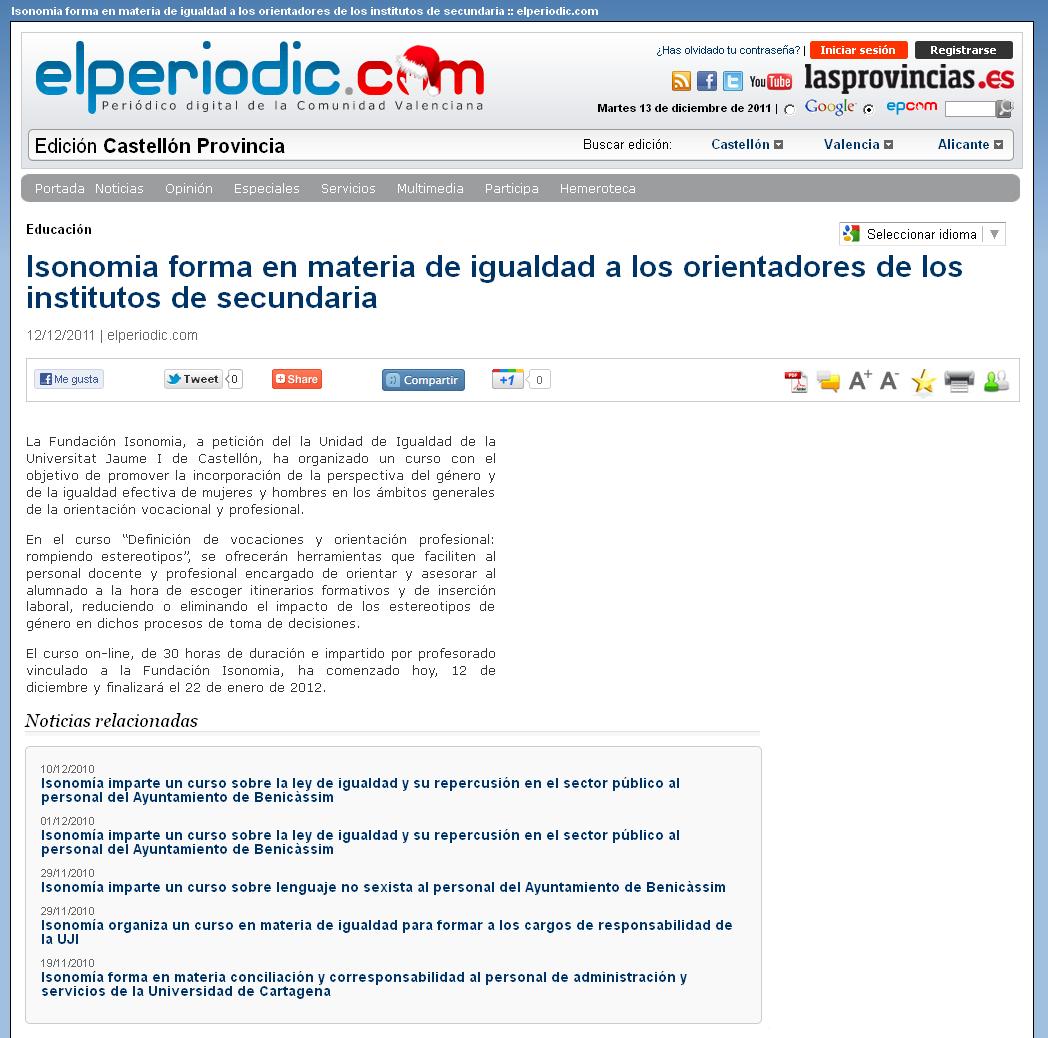 Revista de prensa /2011
