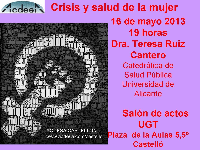 Imagen charla ACDESA crisis y salud mujer