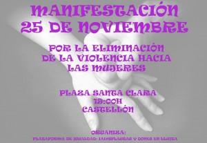 IMG-Manifestación Plataforma igualdad 25 N 2015